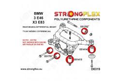 BMW E46 Silent blocs de berceau + nez de pont + arrière pont 90 SHA