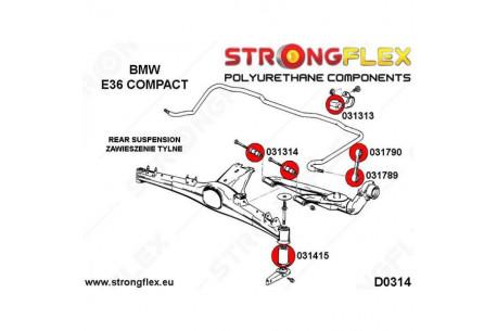 4 silent blocs de bras arrières BMW E36 COMPACT