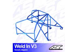 Arceau complet à souder 8 points pour E36 Série 3 Compact