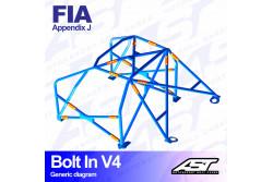 Arceau complet démontable 6 points pour Fiesta Mk1GFBT