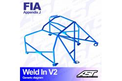 Arceau complet à souder 8 points pour Fiesta Mk2FBD