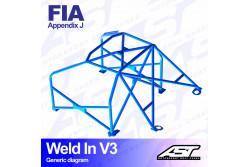 Arceau complet à souder 8 points pour Focus Mk1 FWD