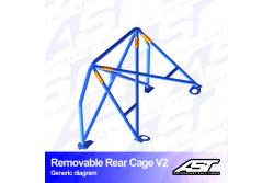 Arceau arrière démontable 4 points pour CRX EF/ED/EECoupé