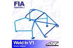 Arceau complet à souder 8 points pour Impreza GC8berline 4WD