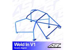 Arceau complet à souder 8 points pour Impreza GVFberline 4WD