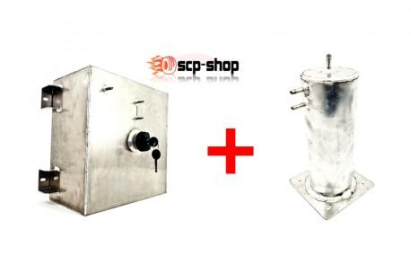Réservoir d'essence aluminium et son réservoir tampon